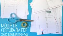 Molde de costura em PDF – como imprimir e montar