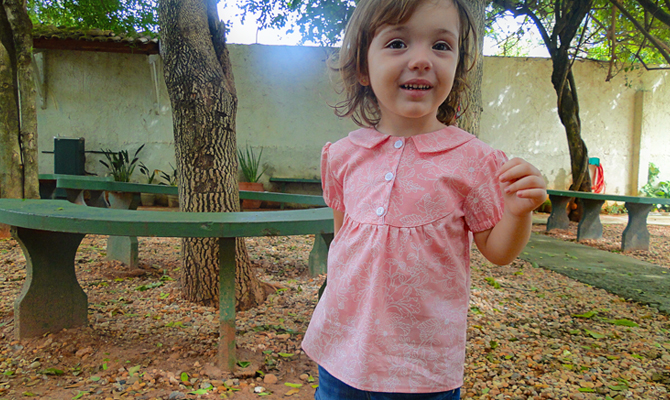 blusa intfantil - molde e tutorial de costura