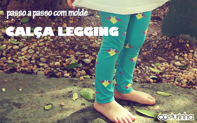 passo a passo com molde grátis de calça legging infantil