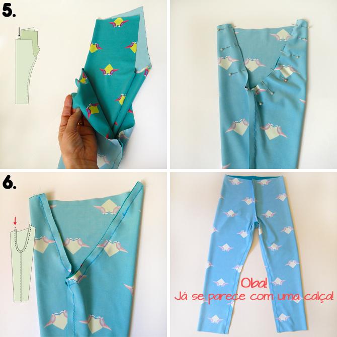 Tutorial e molde grátis calça legging infantil img 2