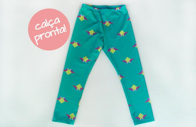 Tutorial e molde grátis calça legging infantil calça pronta