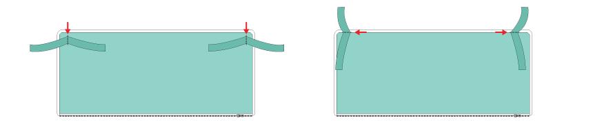 como fazer protetor de berço - posição das alças