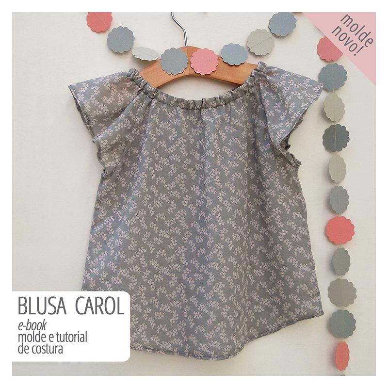 blusa infantil - molde e tutorial de costura