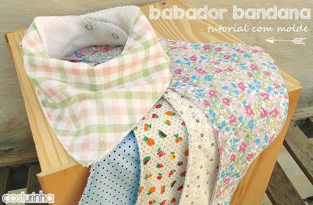 Babador Bandana – passo a passo com molde