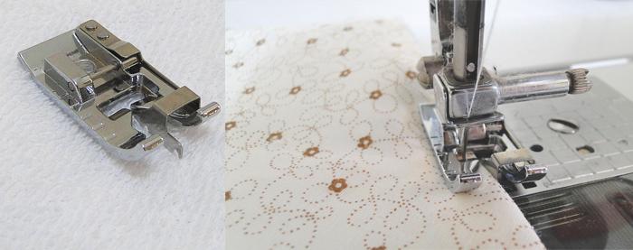 babador bandana com molde detalhe da costura