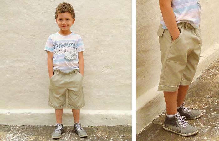 molde e tutorial de costura para bermuda infantil