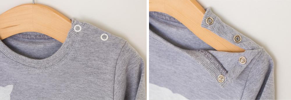 conjunto em malha para bebês camiseta com abertura botões