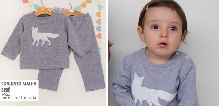moldes de costura conjunto para bebês