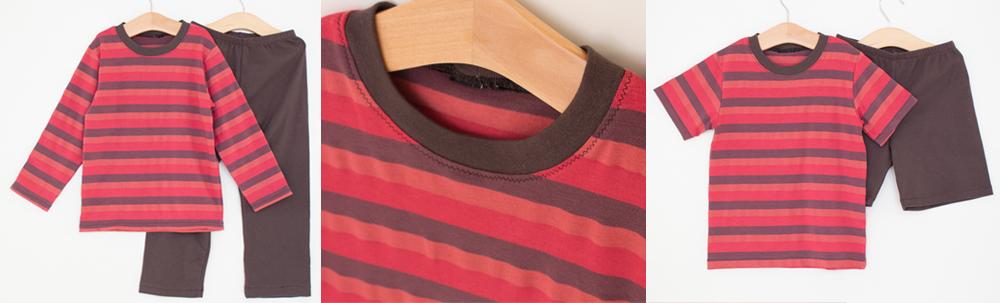 conjunto em malha camiseta manga longa e manga curta, calça ou bermuda