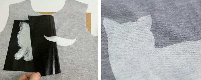 Como estampar uma camiseta usando stencil