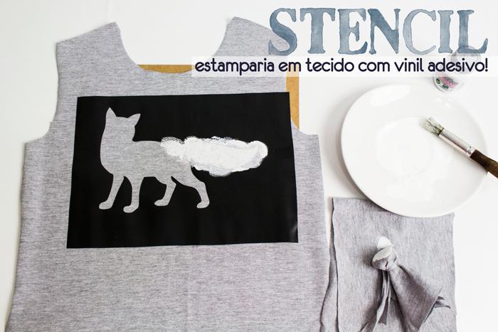 Stencil – como estampar uma camiseta usando vinil adesivo