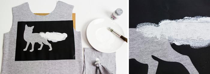 Como estampar uma camiseta com stencil feito em vinil adesivo Contact