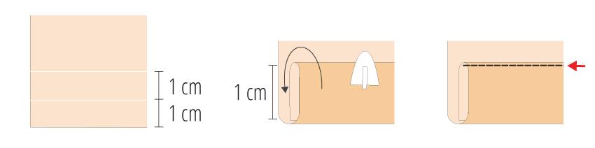 Modificação de moldes: transformando o Vestido Julia em uma saia franzida - costurando a barra