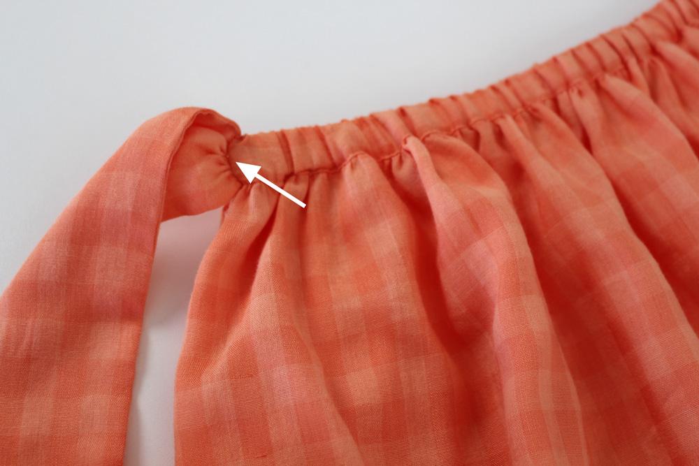 Modificação de moldes: transformando o Vestido Julia em uma saia franzida - detalhe do cós