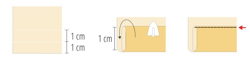 Modificação de moldes: transformando o Vestido Julia em uma saia - tutorial da costura da barra da saia