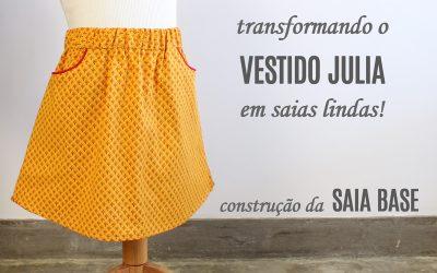 Transformando um molde de vestido em saia – vestido JULIA e saia base