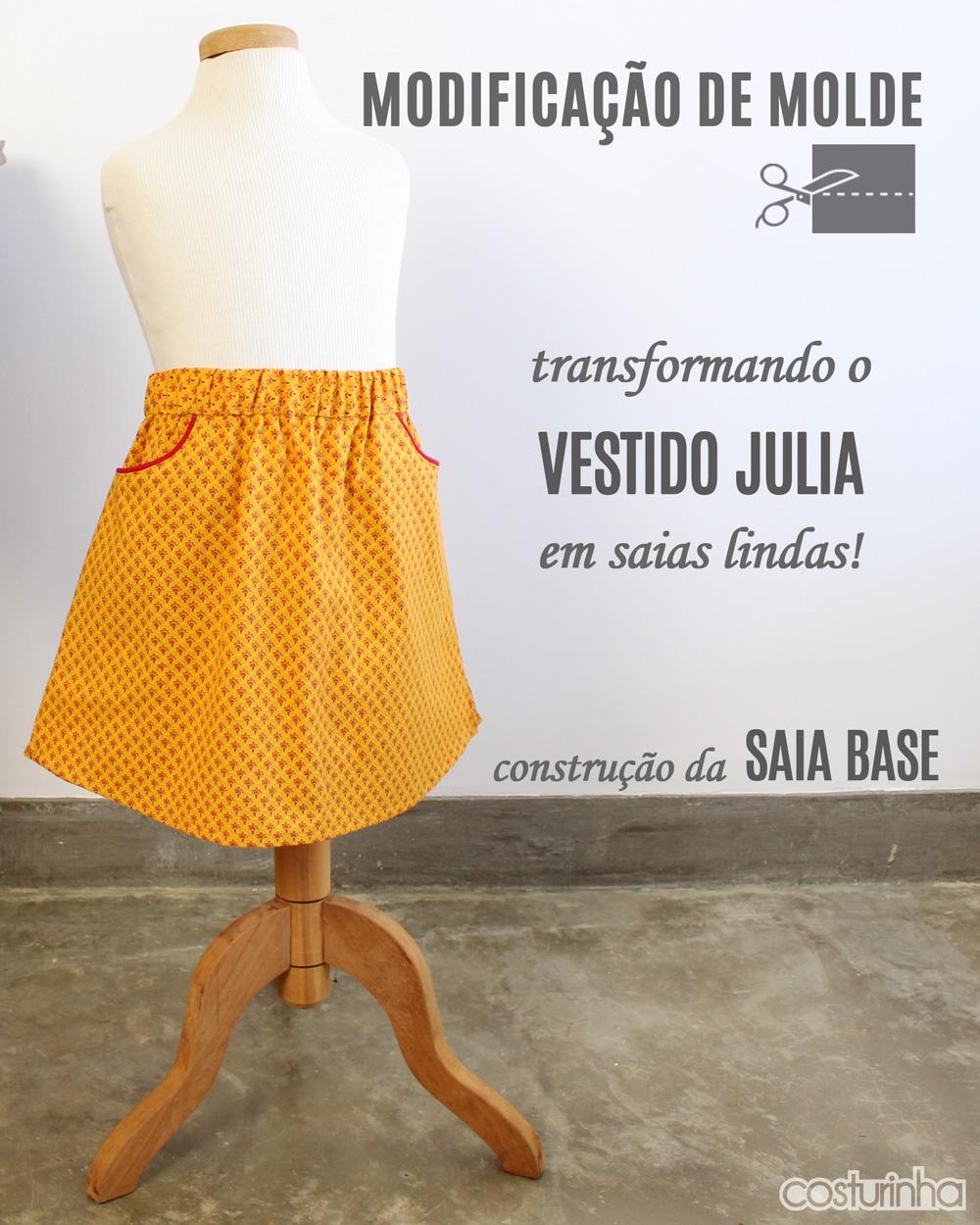 Modificação de Moldes - transformando o vestido JULIA em saias lindas!