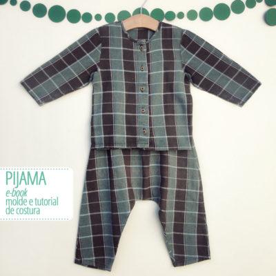 Conjunto Pijama Infantil - moldes e tutorial de costura - PDF digital