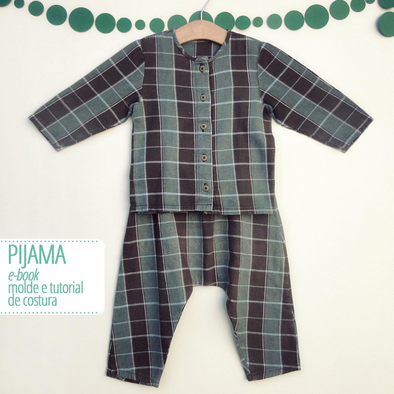 Conjunto pijama infantil - molde e aula passo a passo de costura