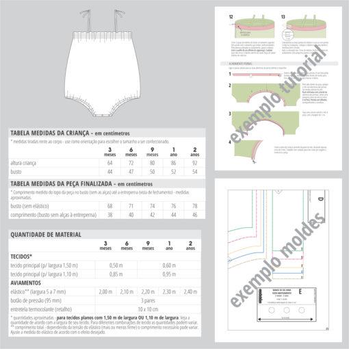 Banho de Sol Nina - moldes e tutorial de costura em PDF