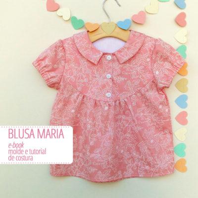Blusa Maria Infantil - moldes e tutorial de costura em PDF
