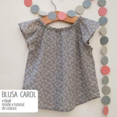 Blusa Carol Infantil - moldes e tutorial de costura em PDF