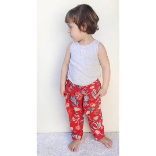 Calca Saruel Infantil molde e tutorial de costura em PDF