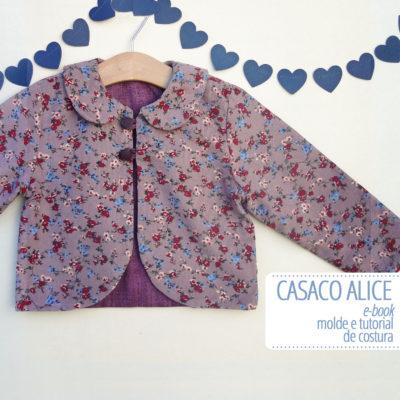 Casaco Alice Infantil - molde e tutorial de costura em PDF