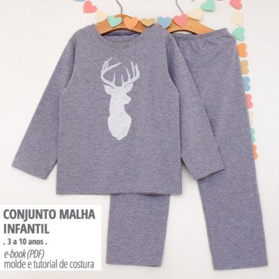 Conjunto Infantil Bebê - moldes e tutorial de costura em PDF