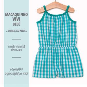 Macaquinho Vivi Bebê - moldes e tutorial de costura em PDF