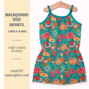 Macaquinho Vivi Infantil - moldes e tutorial de costura em PDF