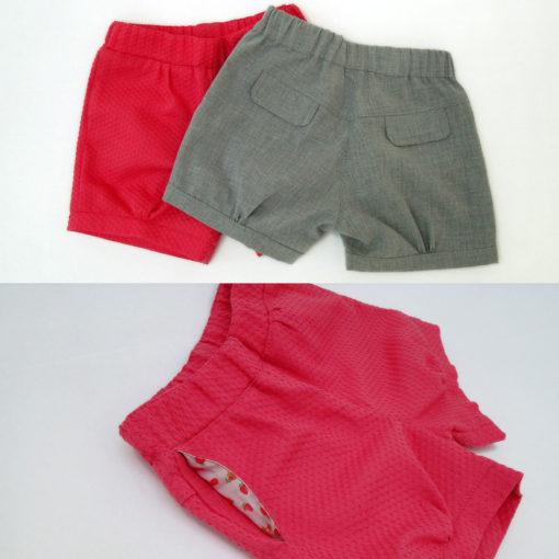 Short Aline Infantil - moldes e tutorial de costura em PDF