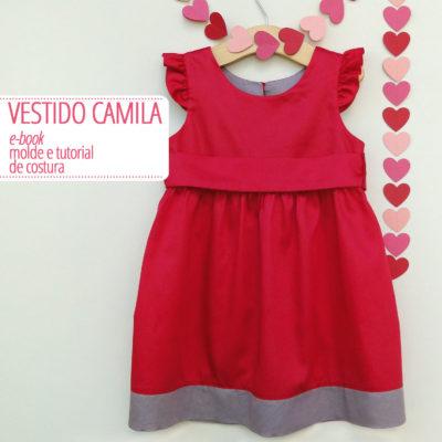 Vestido Camila Infantil - moldes e tutorial de costura em PDF