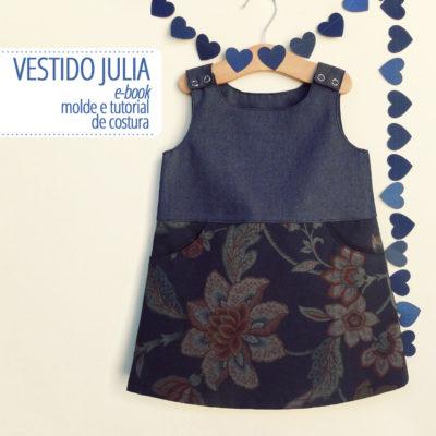 Vestido Julia Infantil - moldes e tutorial de costura em PDF