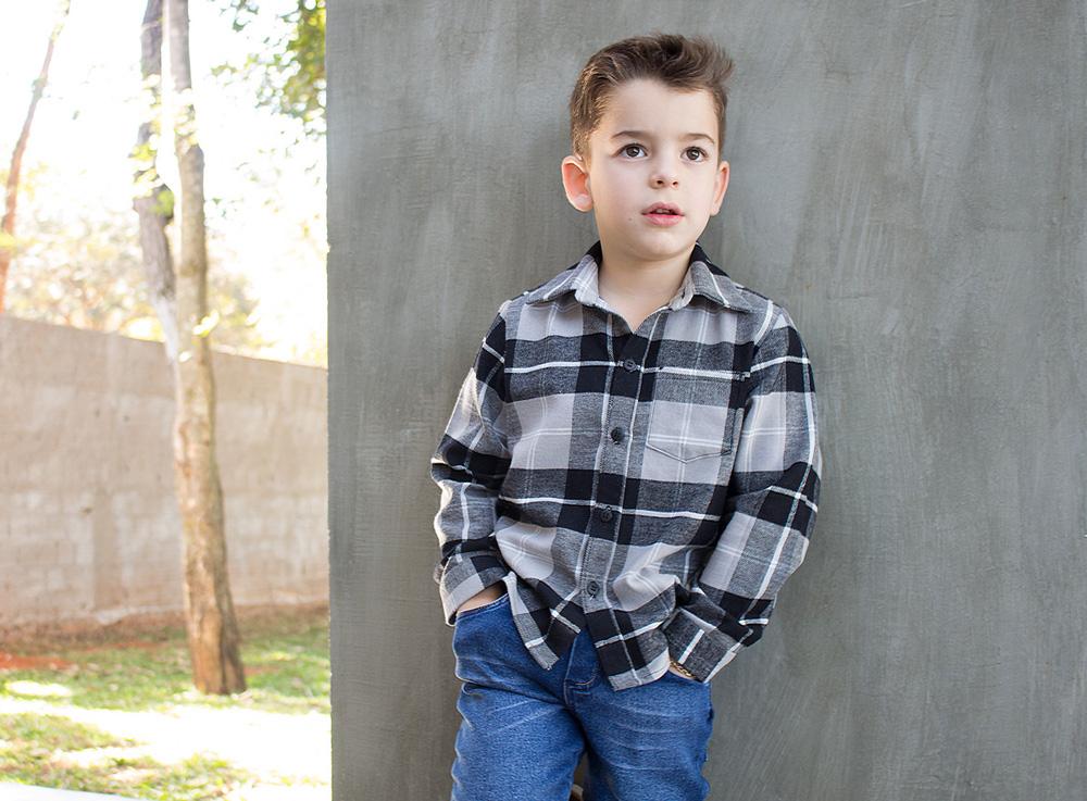 Camisa de botões com molde e tutorial de costura