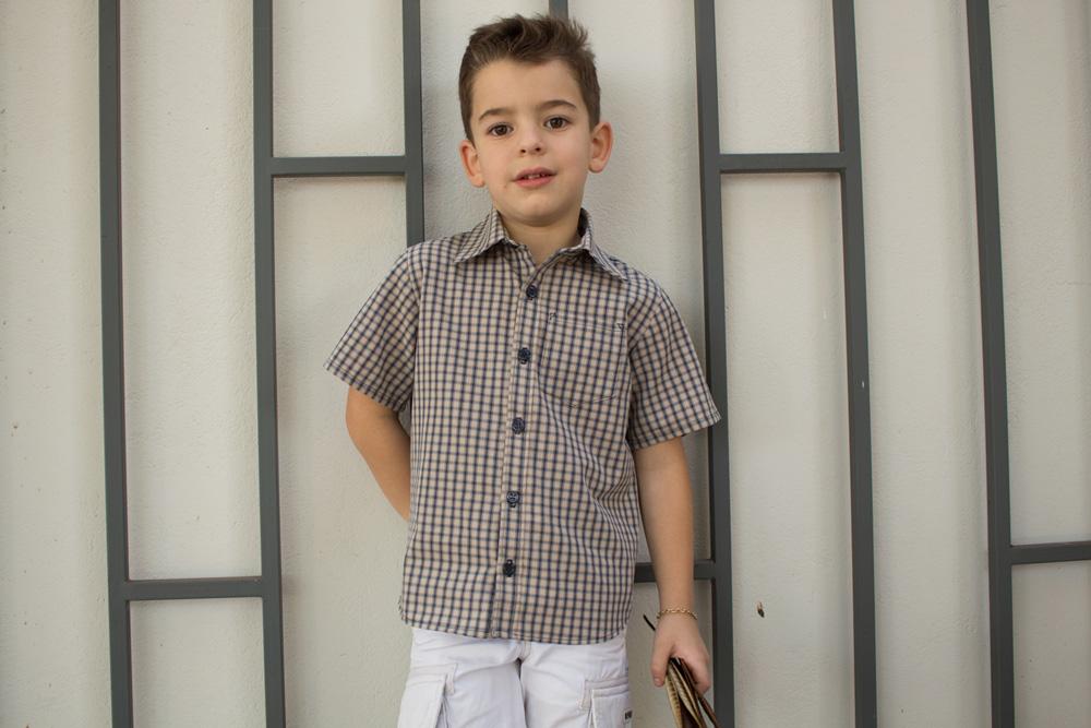 Camisa de botão infantil molde e aula de costura