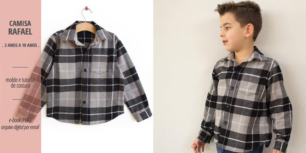 Camisa Rafael - molde e tutorial de costura em PDF