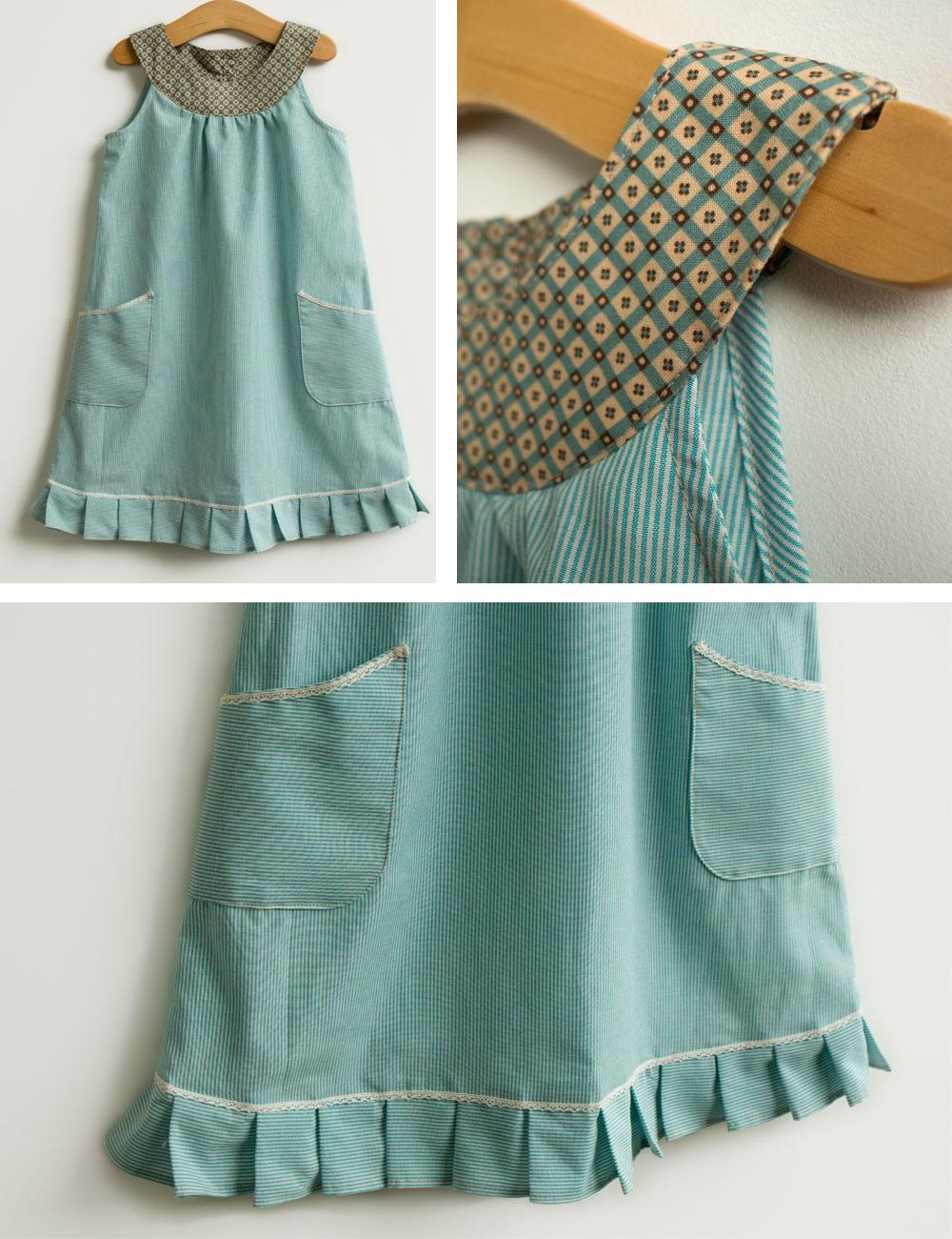 molde e tutorial de vestido infantil com barra pregueada - COSTURINHA