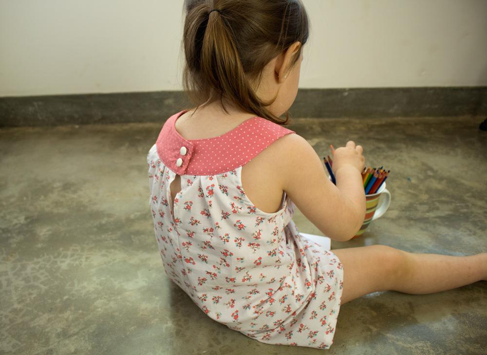 Como costurar um vestido de bebê - moldes de costura para baixar - COSTURINHA