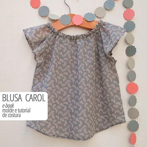 Blusa Carol infantil - molde e aula passo a passo de costura