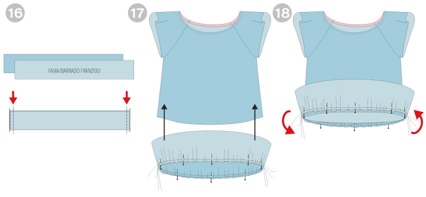 tutorial de costura - como fazer um barrado franzido em vestido