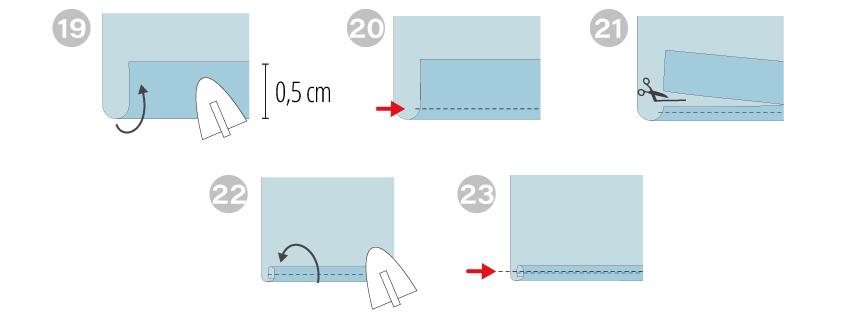 tutorial de costura - vestido infantil - barra lenço