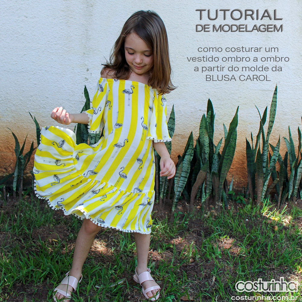 vestido ciganinha infantil - passo a passo de costura