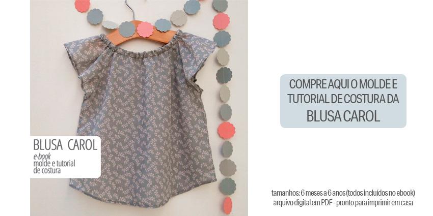 molde de costura de blusa infantil - blusa carol - 6 meses a 6 anos