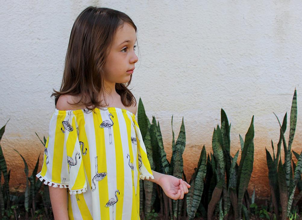 vestido infantil ombro a ombro - aula de costura