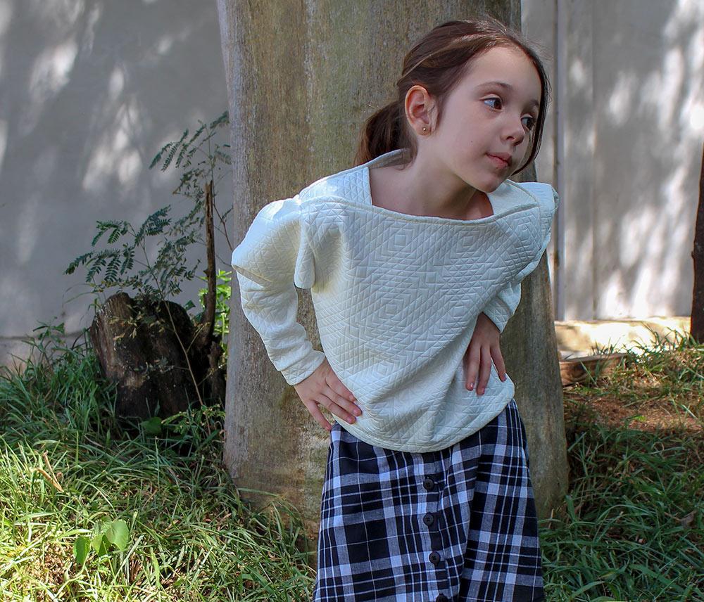 Molde costura moletom infantil