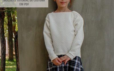Molde de costura em PDF – Blusão em Malha Infantil