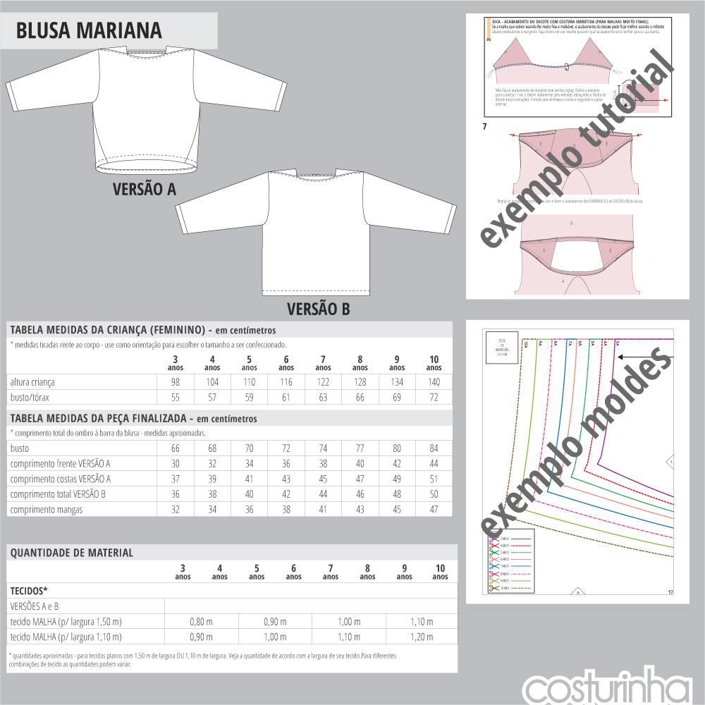 Curso ilustrado de costura para blusa em malha infantil
