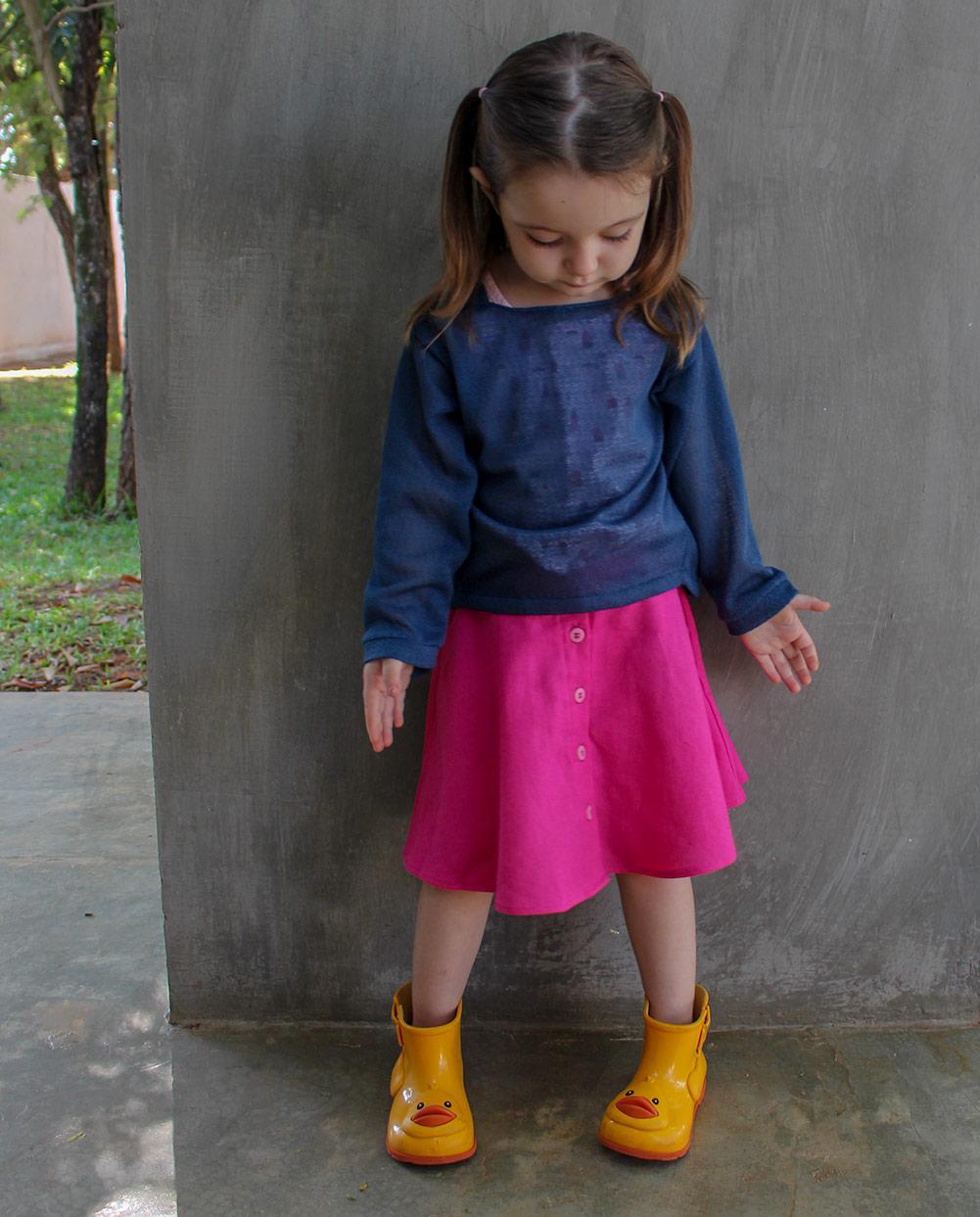 Molde de costura para saia infantil