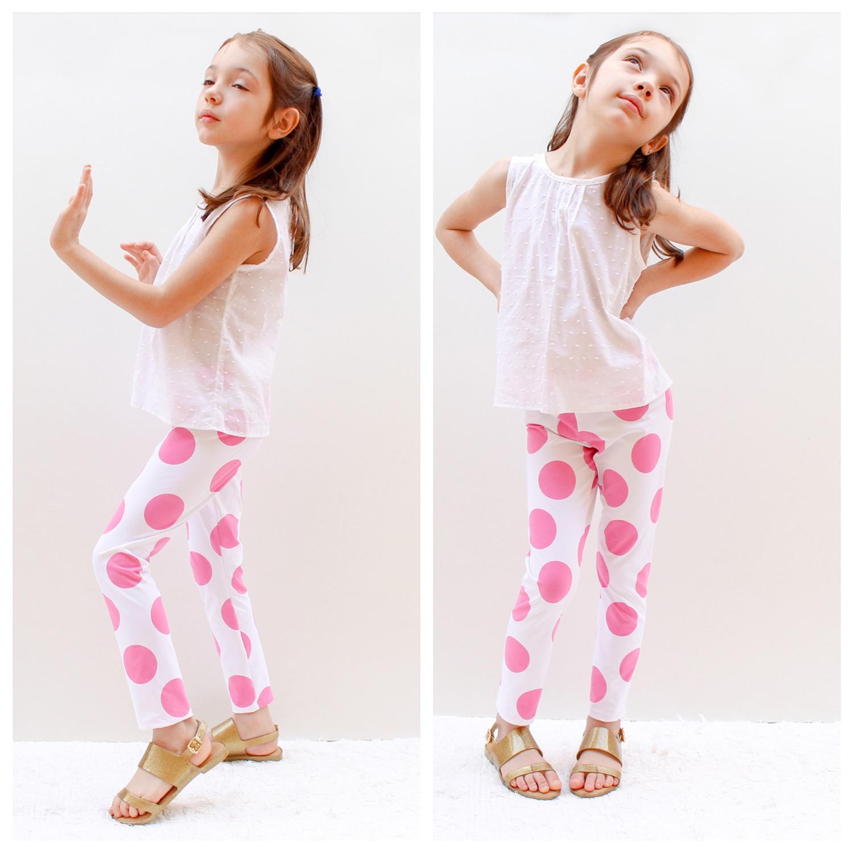 Molde de costura para calça legging infantil